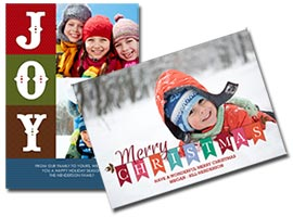 Holiday photo cards.